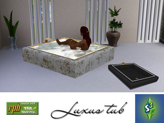 Sims 3 bath, bathroom, bathtube, marble