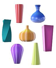 Sims 3 vase, decor, glass, solid, decoration
