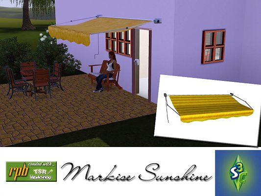 Sims 3 markise, build, objects