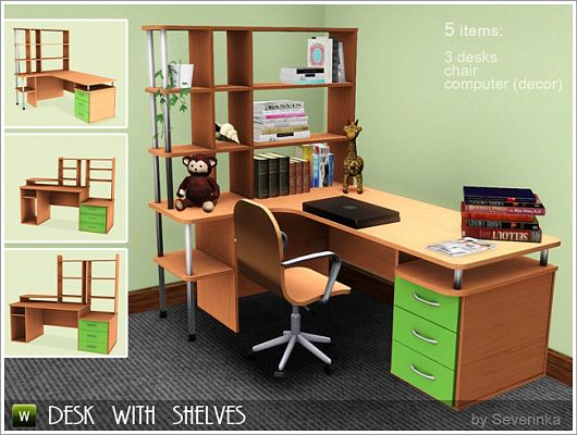 Sims 3 desk, office, furniture