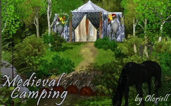 Sims 3 medieval, camp, camping, lot, community