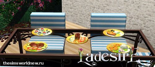 Sims 3 food, plates, decor, objects