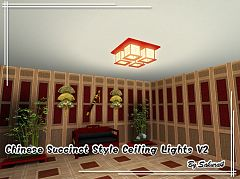 Sims 3 light, lighting, ceiling, chinese