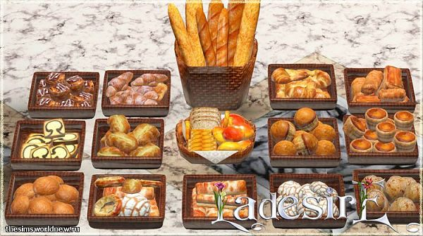 Sims 3 food, bread, decor, objects