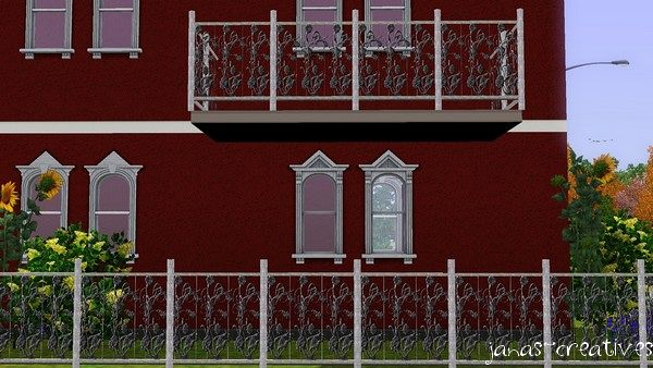 Sims 3 fence, iron, build, set