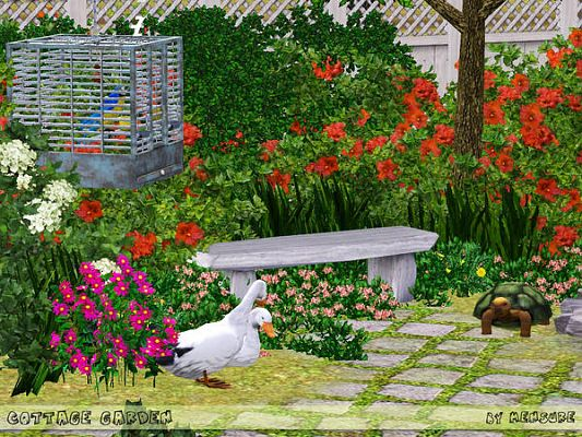 Sims 3 garden, outdoor, objects