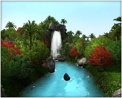Sims 3 world, neighborhoood, island, tropical