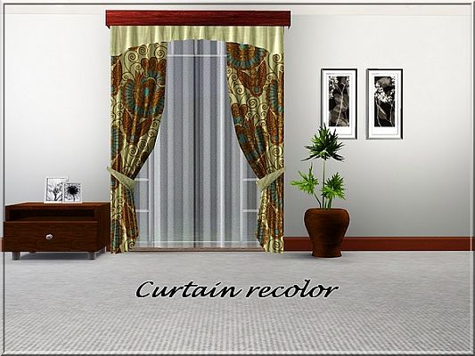 Sims 3 decor, object, curtain, recolor