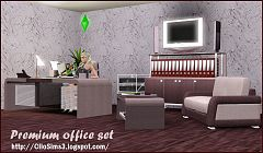 Sims 3 office, study, room, furniture, objects, decor
