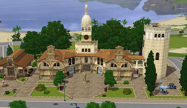 Sims 3 lot, shop, commercial, market, historic