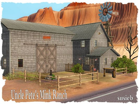 Sims 3 house, lot, residential, ranch