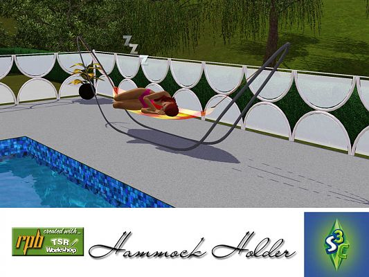 Sims 3 objects, outdoor, hammock