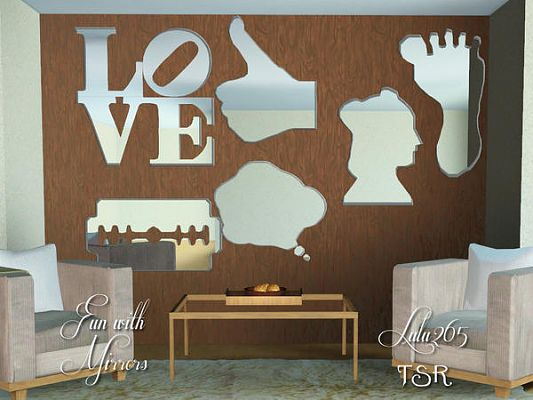 Sims 3 mirrors, decor, set, objects