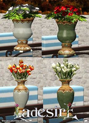 Sims 3 vases, flowers, decor, objects