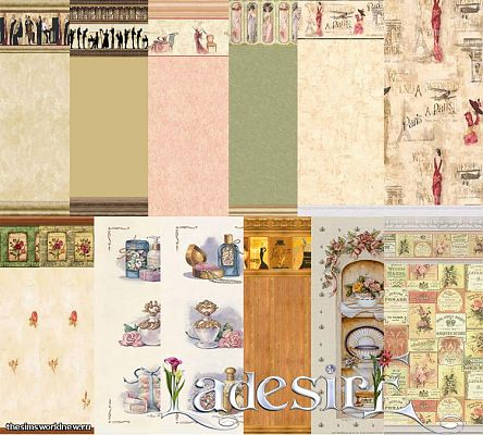 Sims 3 wall, decor, decoration, vintage, pattern