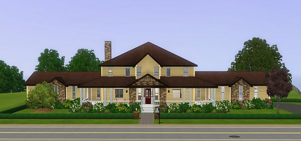 Sims 3 ranch, house, lot, residential