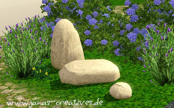 Sims 3 rocks, decor, objects