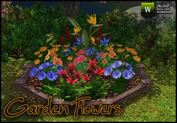 Sims 3 flowers, garden, decor, objects