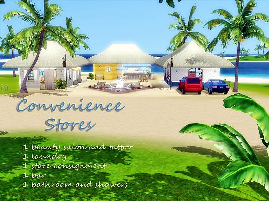 Sims 3 lot, store, community