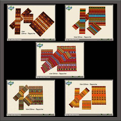 Sims 3 rugs, carpets, ethnic