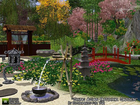 Sims 3 outdoor, garden, set, objects