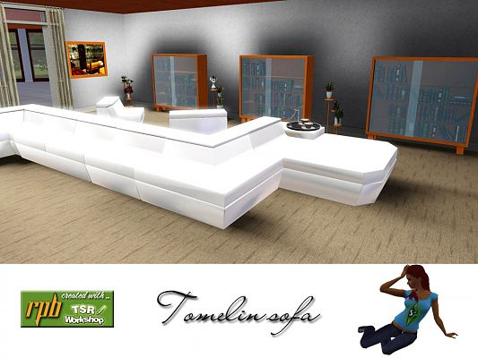 Sims 3 sofa, furniture, corner