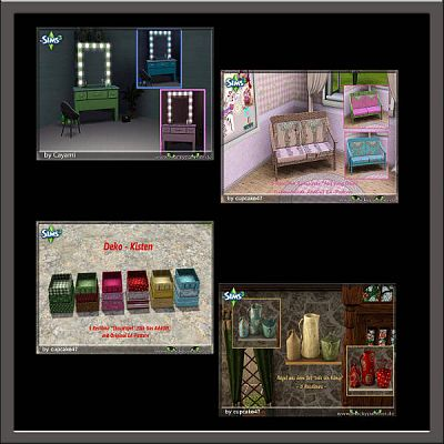 Sims 3 decor, objects, decoration, clutter