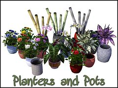 Sims 3 pants, pots, objects, decor