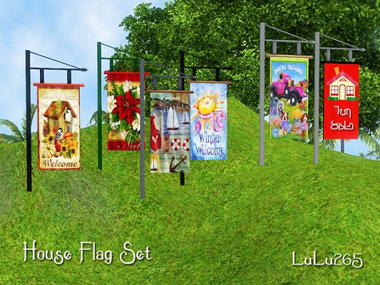 Sims 3 flag, objects, decor