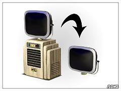 Sims 3 electronics, TV, retro, objects