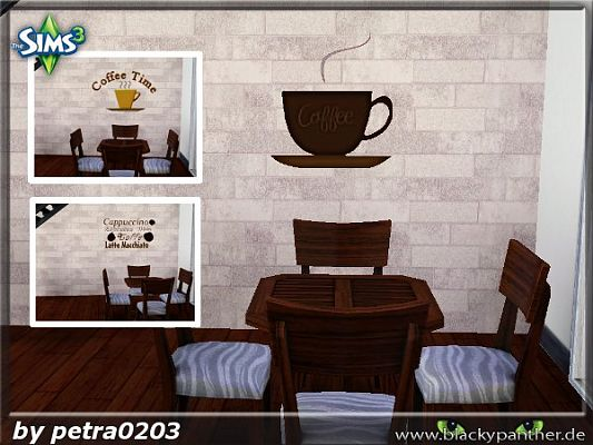 Sims 3 wall, stencils, decor