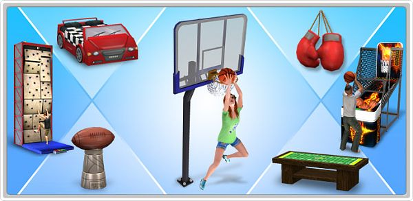 Sims 3 set, outdoor, play, games, ball