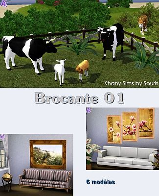 Sims 3 paint, paintings, decor, objects, animals
