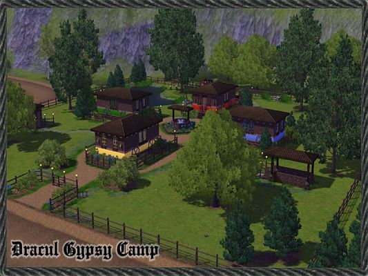 Sims 3 camp, lot, community