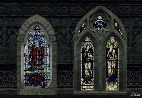 Sims 3 windows, gothical, build, set