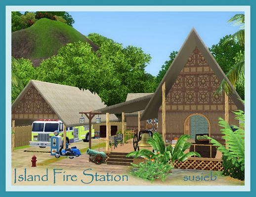 Sims 3 fire, station, lot, community