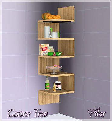 Sims 3 furniture, sheves, tree