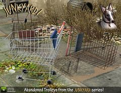 Sims 3 abandoned, trolleys, objects