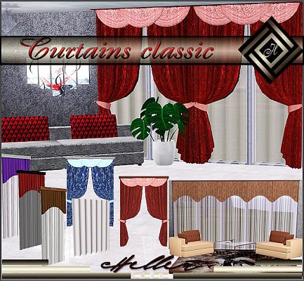 Sims 3 curtains, decor, objects