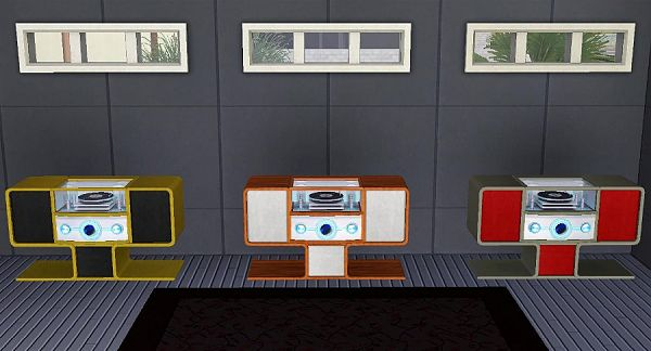 Sims 3 stereo, electronics, objects