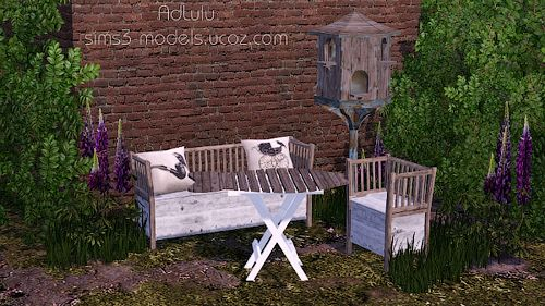Sims 3 furniture, outdoor, wood, decor