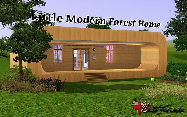 Sims 3 house, lot, residential, forest, home