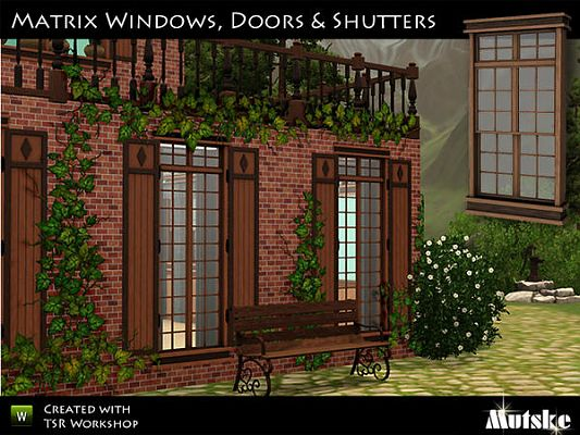 Sims 3 windoows, doors, build, set