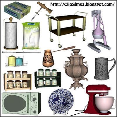 Sims 3 decor, objects, decoration, set, kitchen