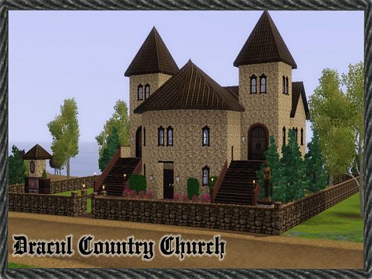 Sims 3 lot, community, church