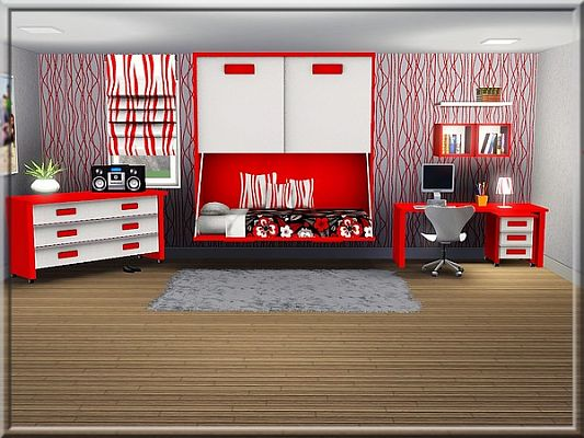 Sims 3 bedroom, recolor, furniture