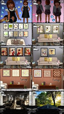 Sims 3 paint, paintings, decor, objects, dress