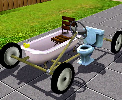 Sims 3 transport, bath, car, mobile