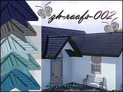Sims 3 roof, build, blue