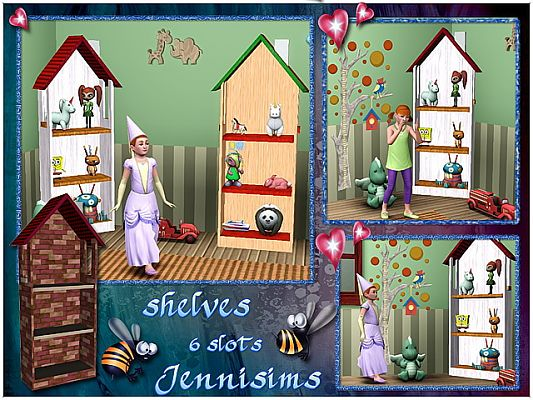 Sims 3 shelves, objects, decor, furniture